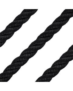 18mm 3-strengs polyester zwart