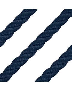 10mm 3-strengs polyester blauw