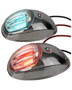 Boordlicht LED set 93mm tot 12m Rvs