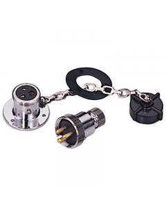 Dekstekker met stopcontact 3-polig 3 Amp