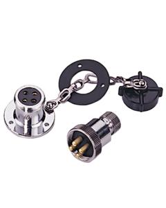 Dekstekker met stopcontact 4-polig 3 Amp