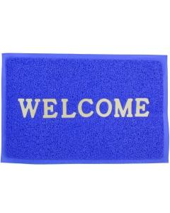 Deurmat Welcome 57x37cm blauw