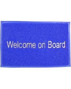 Deurmat Welcome on Board 57x37cm blauw