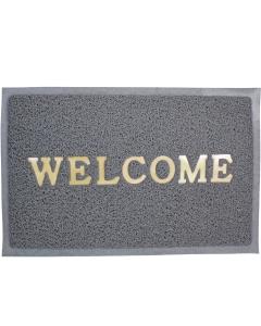 Deurmat Welcome on Board 57x37cm grijs