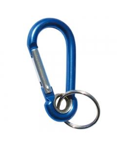 Karabijnhaak sleutelhanger 60mm blauw