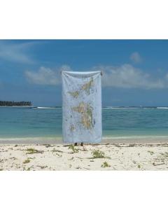 Kitesurf map wereld strandlaken