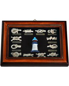 Knopenlijst 18 x 13cm met vuurtoren