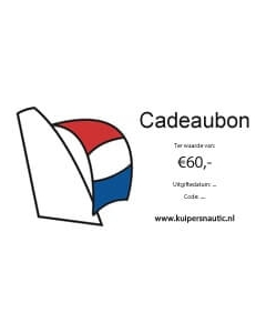 Cadeaubon 60 euro