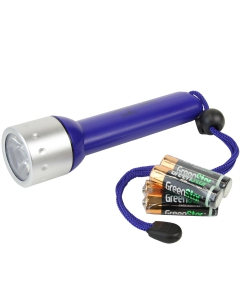 LED zaklamp waterdicht 163mm blauw