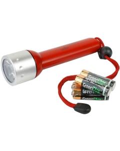 LED zaklamp waterdicht 163mm rood