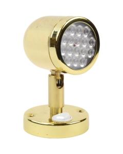 Leeslamp LED 12 volt 132mm 3.1 Watt messing