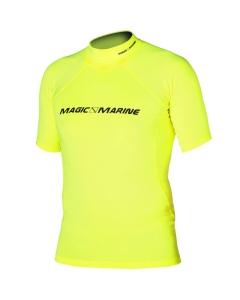Magic Marine Cube rash vest short sleeve geel