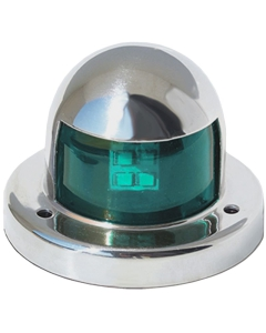 Navigatielicht LED 61x46mm stuurboord tot 12m Rvs