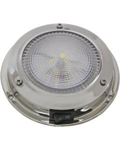 Plafondlamp boot LED 12 volt 107mm Rvs