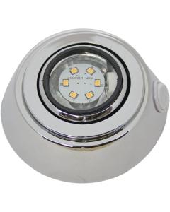 Plafondlamp boot LED 8-28 volt 98mm verchroomd