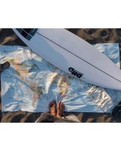 Surftrip map wereld strandlaken