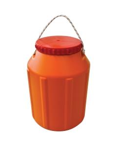 Waterdicht tonnetje 12L oranje