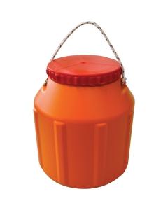 Waterdicht tonnetje 8L oranje