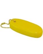 Drijvende sleutelhanger zacht 83x40mm geel