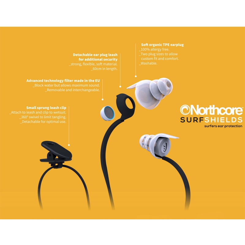 Northcore Surfshields Surfers Ear Plugs