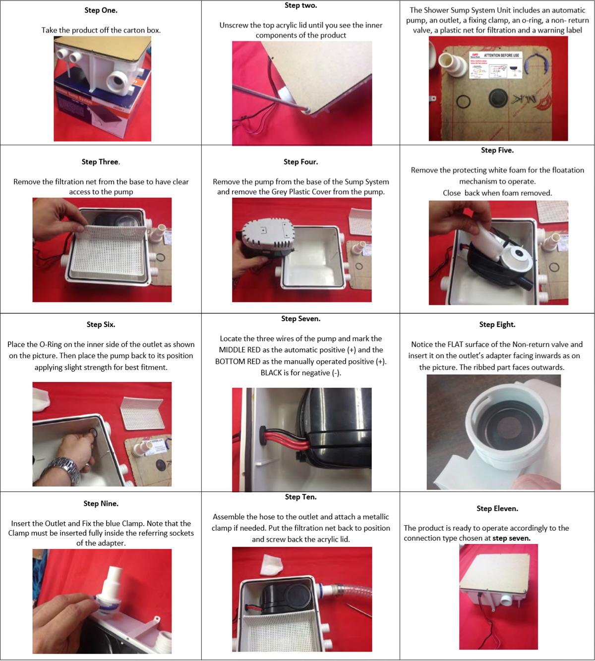 handleiding automatische afvoerpomp met filter