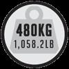 Maximaal gewicht van 480kg